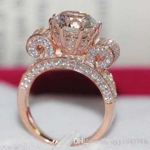 2018 Wholesale 3ct 18k Rose Gold Plated Jewelry No Fade Sona Diamond