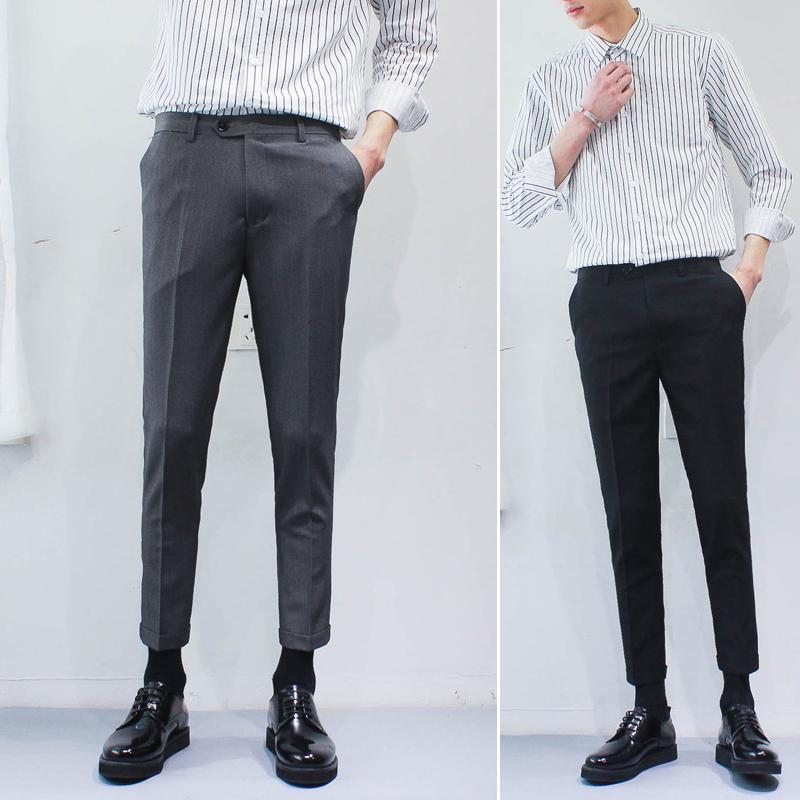 f6a0d2383b53d 2019 2017 Winter Wool And Silk Men s Suit Pants Single Pleated Thick Dress  Pants Men Classical Men Dress From Baica