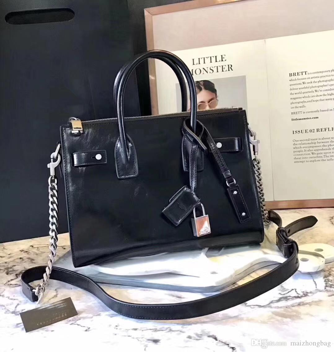 7e3f80e550 Women Famous Brand Designer Bags Genuine Leather Good Quality Metal  Messenger Bag Tote Clutch Bag Purses Handbags Black Bags Crossbody Purse  From ...