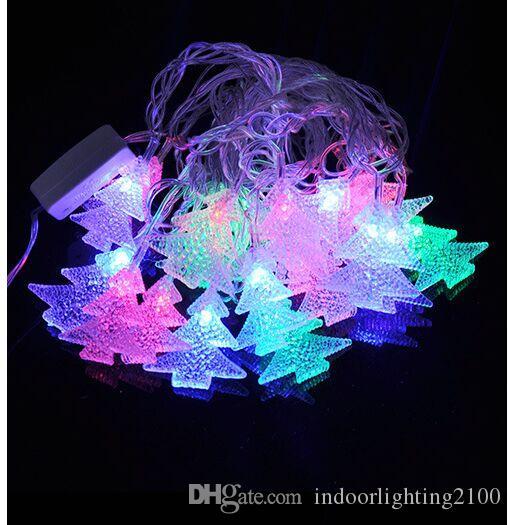 4M 20Lights AC 110V/220V Led Color Night Lights Lamp Christmas Tree Strings Lights Room Garden Window Indoor Decoration Lights Strings