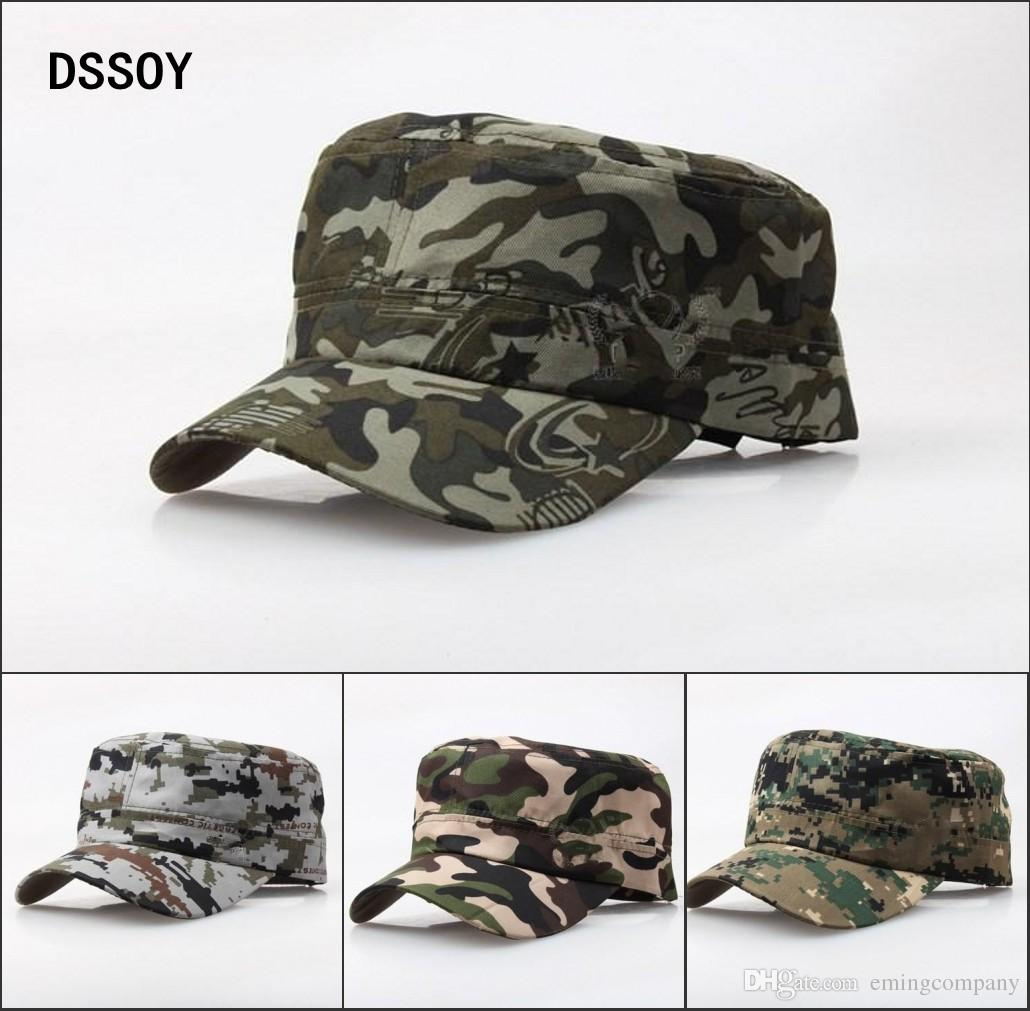Quality Designer Plain Cotton Military Hats For Adults Mens Womens Blank  Camouflage Army Caps Summer Cotton Man Woman Sports Sun Visor Sale