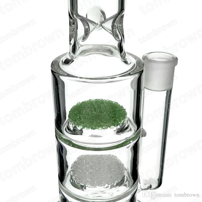 13.4 pollici di buona qualità bong di vetro diritto tre tubi di acqua di vetro di tre pizzi che fumano uso quotidiano un giunto femminile di 18mm