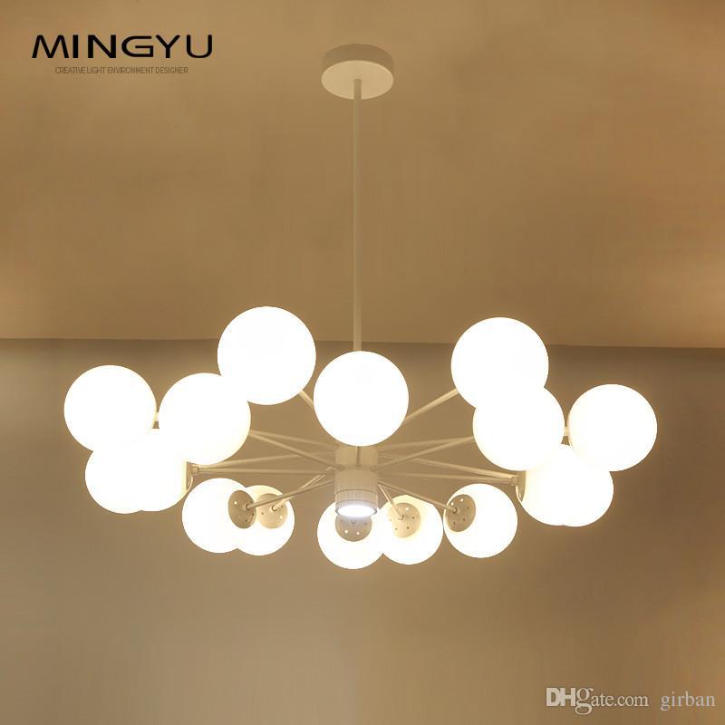 Longree Modern lamp novelty pendant lamp natural tree branch suspension Christmas light Glass Ball Lamp Creative Design Light for hotel deco
