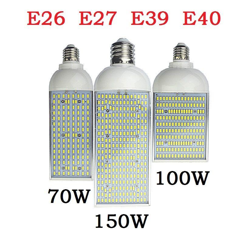 70W 100W 150W LED rue spot lumière E26 E27 E39 E40 économie d'énergie Haute énergie Ampoule De Maïs En Aluminium Lampe 110V 220V Lampada Lighting