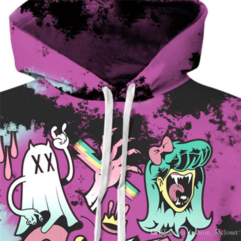 Cartoon Skull 3D Sportswear Men Hip Hop Newly Hooded Tracksuit Fitness Harajuku Hoodies Male Casual Funny Pullover Skulls Tops