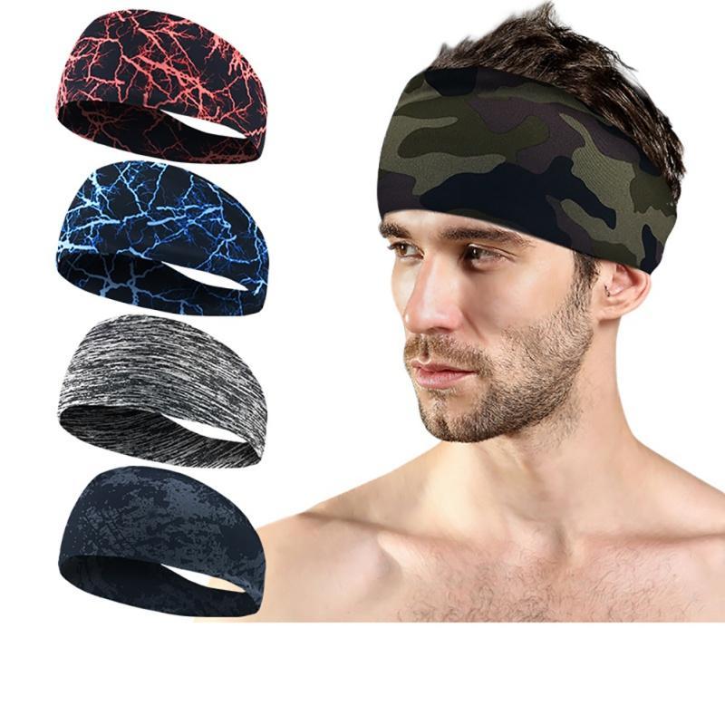 57dcfbb25e00 2019 Men  S Sports Headband Yoga Headband Sweat Stretch Running Hood ...