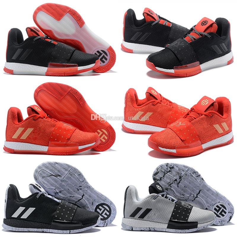 Newst Mens Harden Vol. 3 MVP Basketball Shoes Weaving Sneakers Men Red Grey Black  James Harden 3s Outdoor Trainers Sports Shoes Size 7 11.5 Barkley Shoes ... 03ef4c826