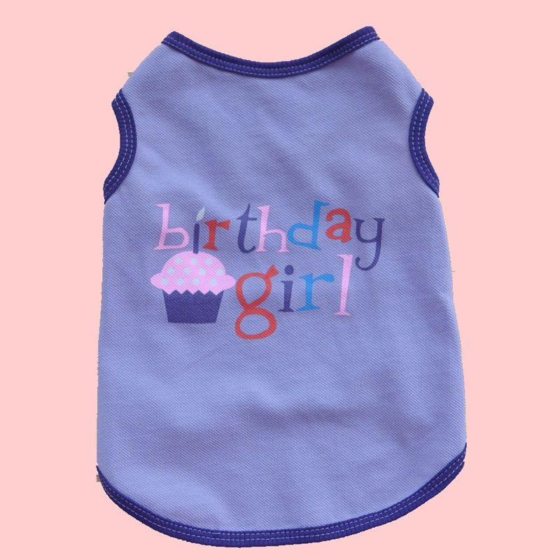 New Dog Apparel Vest Dogs T-Shirts Dog Clothes Summer Fashion Pet Clothes Pet Supplies Purple Blue