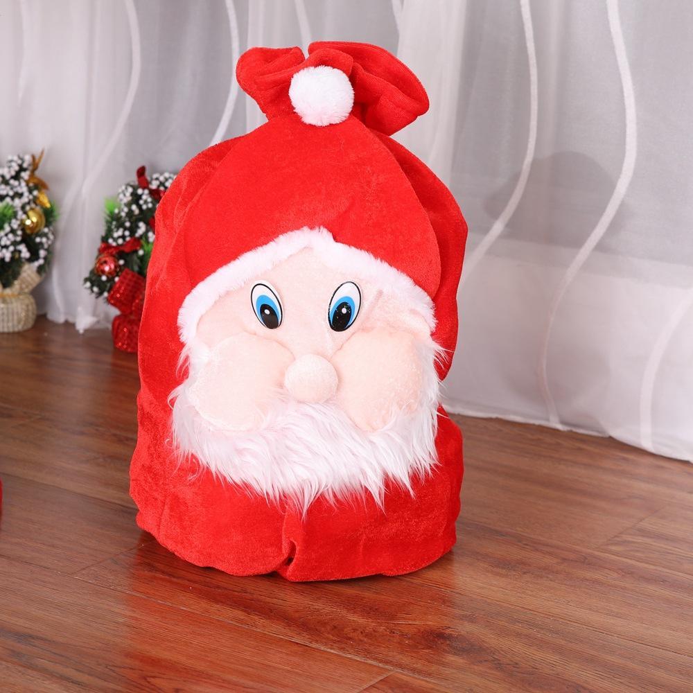 Christmas Gift Bag Christmas Decorations For Home Santa Claus Kids ...
