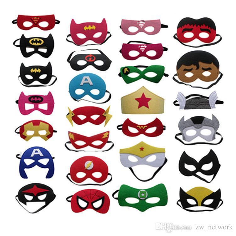 Halloween Jason Mask Cartoon.Halloween Decoration Mask Children S Eye Mask Superhero Christmas Cartoon Felt Mask Masquerade Dance Party Masks