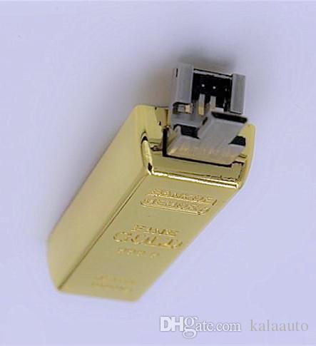 골드 바 OTG 64GB 128GB 256GB USB 플래시 드라이브 PC OTG 드라이브 용 USB 메모리 스틱 드라이브 Pendrive thumbdrive