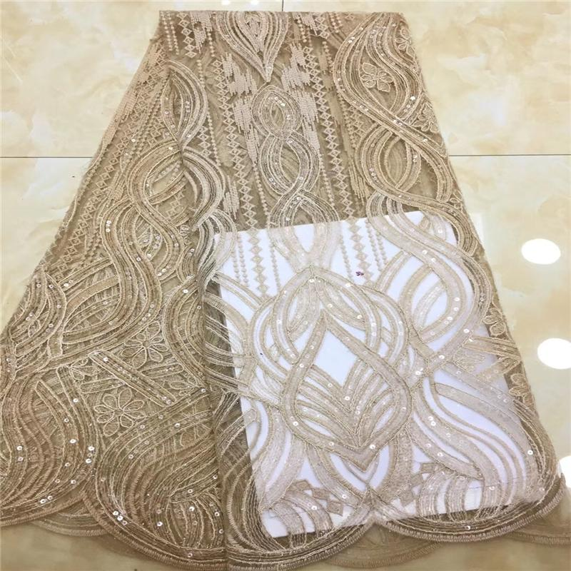 African Lace Fabric 2019 Hot Embroidered Nigerian Stones Cord Laces Fabric High Quality French Tulle Red Lace Fabric For Women 2019 Latest Style Online Sale 50% Apparel Sewing & Fabric Lace