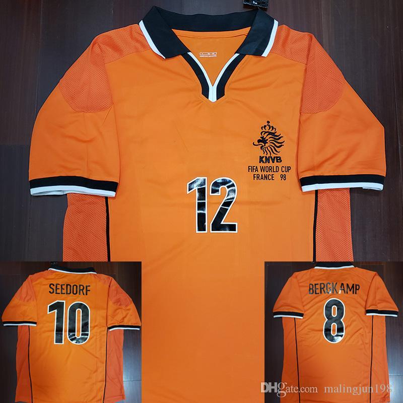 1998 Bergkamp Kluivert Seedorf Retro Soccer Jersey 98 Holanda Jersey Holland  Voetbal Vintage Football Shirts Camiseta Maillot Camisa Por Malingjun1981 af8c7bc9a8592