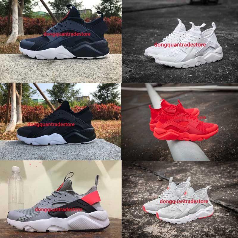 d75a4f29d0e7 New Huarache Ultra Running Shoes For Men   Women Black White Red ...