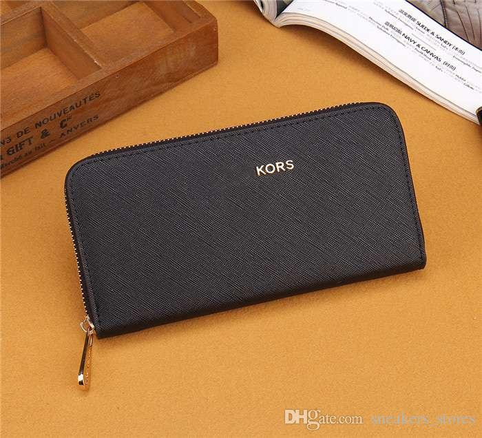 2dc04bbb11c8 Mode luxus designer marke mode einzigen reißverschluss günstige frauen  leder brieftasche dame damen hohe qualität lange geldbörse