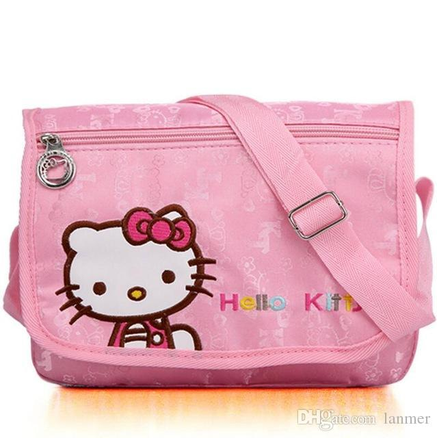 964aafa66d Wholesale Fashion Hello Kitty Children Lovely Messenger Bags Girl Bags Pink  Color Hand Bags Shoulder Bags From Lanmer
