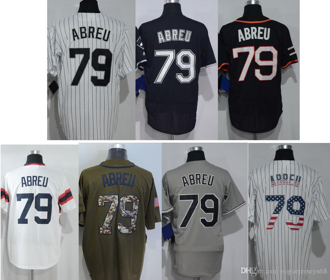 95a3071a ... top quality mens chicago new 79 jose abreu salute to service stitched  embroidery throwback baseball uniforms