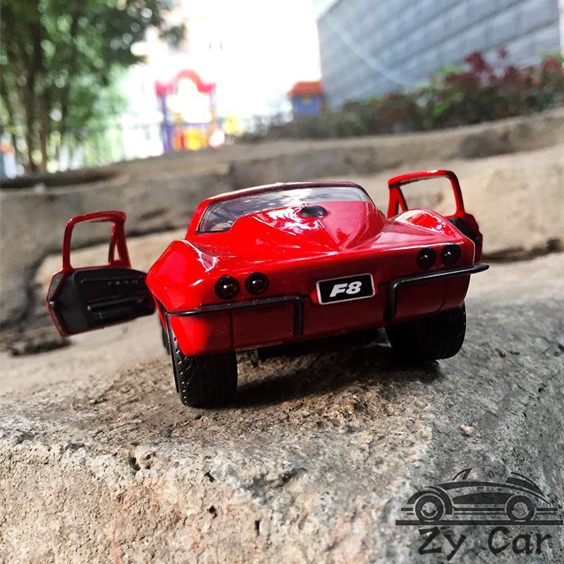 Modèle Peut La 8 32Chevrolet Collection Porte Alliage 1 Sport Décoration Métal Voiture Speed Enfant Jouet Cadeau Corvette De Ouvrir 1966 JFT1lKc