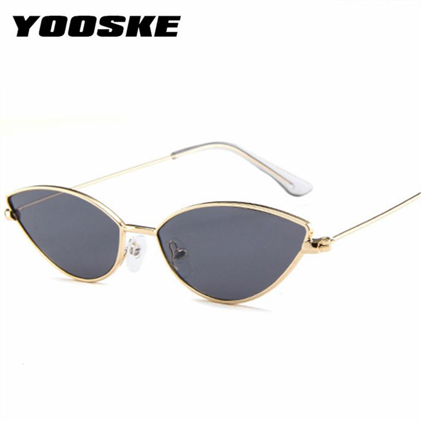 54f7c3c45 Yooske Cute Sexy Cat Eye Sunglasses For Women Retro Small Frame Black Red  Cateye Sun Glasses Female Vintage Shades For Women Sexy Cat Eye Sunglasses  Cat Eye ...