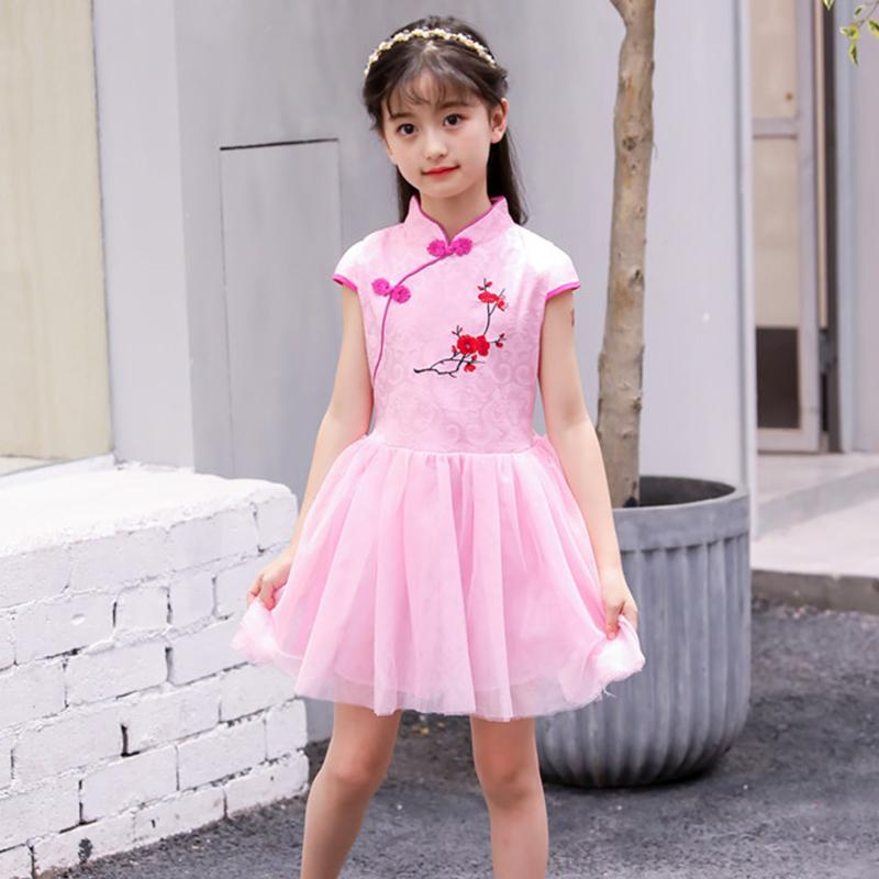 3f62224ea 2019 Children Girl Dress Cheongsam Chinese Traditional Dress Short Sleeve Skirt  Girl Children Cheongsam 2018 Summer Cotton Qipao From Aprili, ...