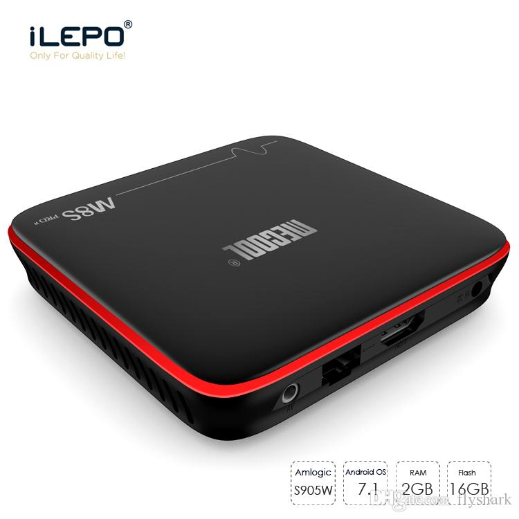 M8s Pro Tv Box Amlogic S905W Quad Core Android 7.1 STB TV Boxes 2GB 16GB Support 4K H.265 HDMI Wifi OTA Update