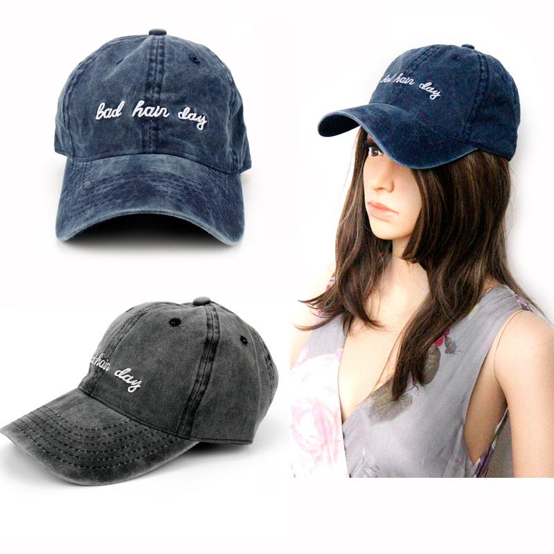 599198d537e3e 2018 Dad Hat Solid Washed Baseball Caps Women Men Bad Hair Day OOPS Letter  Embroidery Couple Cap Navy Dark Grey Trucker Hat Gift Custom Caps Cool Caps  From ...