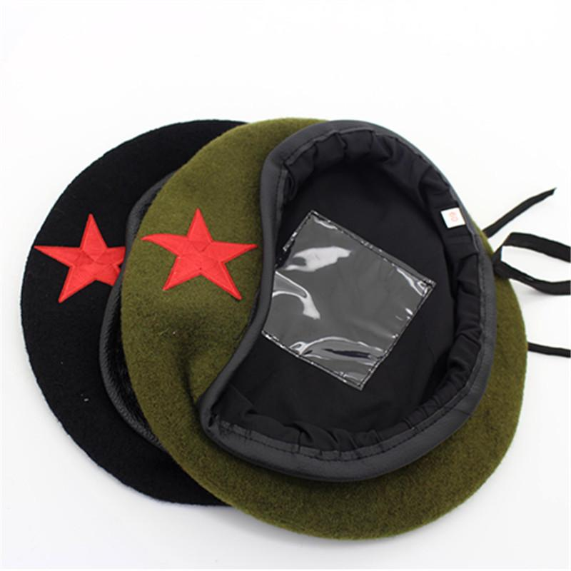 cd1d99334af98 2019 High Quality Wool Army Berets For Men Women Children Star Emblem  Sailor Dance Performance Hat Adult Child Trilby Hat Cap From Jamesjewelry