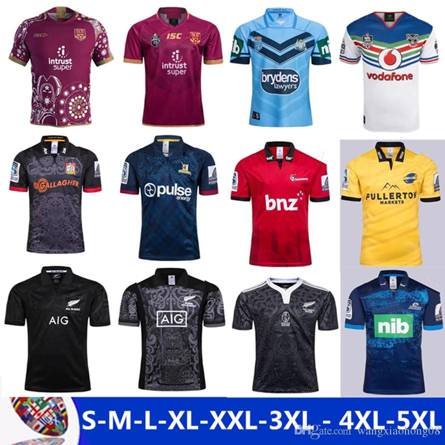 7a293493c31 2019 2018 Chiefs Super Rugby Home Jersey New Zealand Super Chiefs Blues  Hurricanes Crusaders Highlanders Men Euro Extra Size S M L XL XXL 3XL 4XL  From ...
