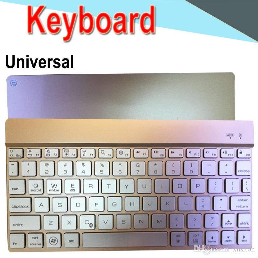 Bluetooth Keyboard 789 10inch Metal Universal Ultra-thin mini long-lasting Battery Back light for PC iPad Laptop Android IOS Tablet 50 Packs