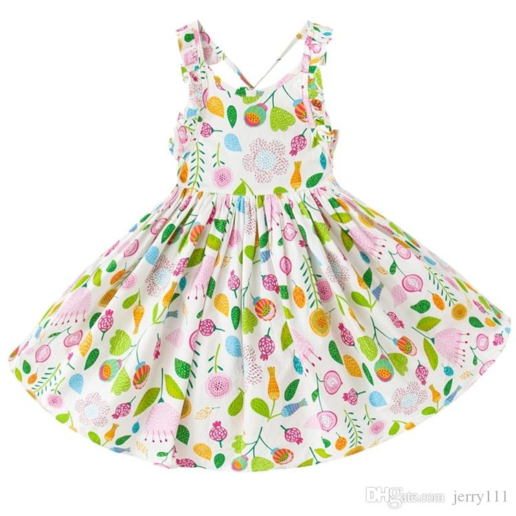 d74a5129ab43 2019 Baby Girls Dresses 12 Months 7 Years Old Girls Summer Dresses Flower Girl  Dresses Tutu Dress Kids Clothing LA661 2 From Jerry111, $8.77 | DHgate.Com
