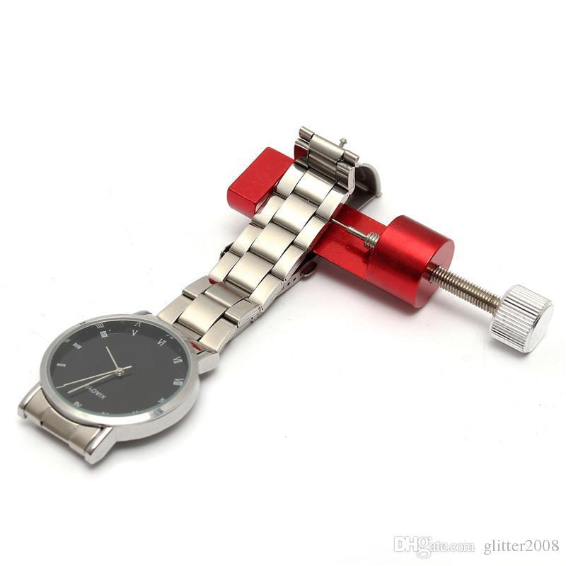 Pulsera de banda de reloj ajustable de metal Pulsera Link Pin Remove Remover Kit de herramientas de reparación de herramientas de reparación de aleación de aluminio