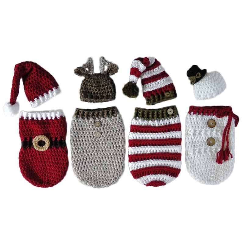 2019 Newborn Baby Crochet Knitted Photography Wrap Christmas Bebe