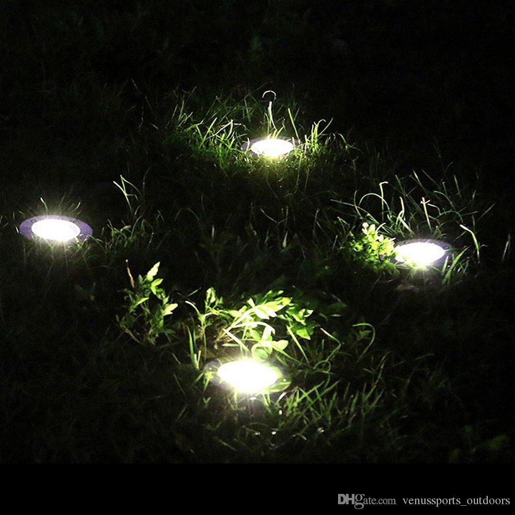 4 led Açık Disk Işıkları Güneş Disk Işıkları Güneş Enerjili Açık Taşınabilir Fenerler Yürüyüş kamp Bahçe Merdiven Işıkları