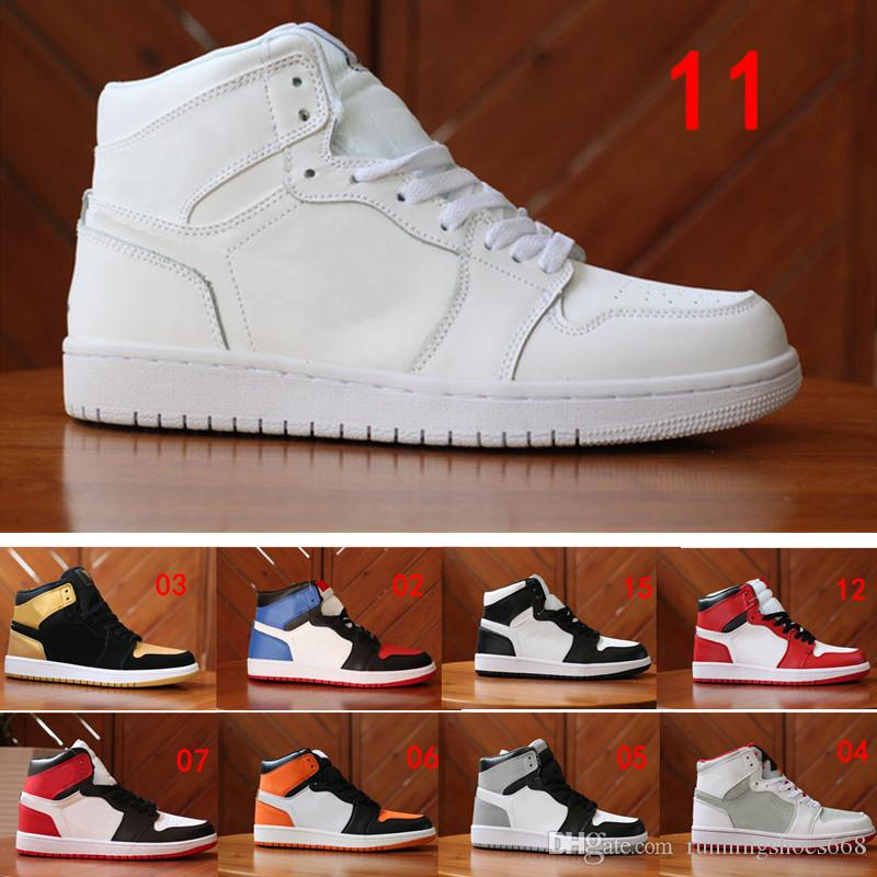 newest bc1ed 9b50d Acquista Nike Air Jordan 1 Aj1 Retro Nuovo 1 High OG Gioco Royal Banned  Shadow Bred Toe Scarpe Da Basket Uomini 1s Frantumato Backboard Argento  Medaglie ...
