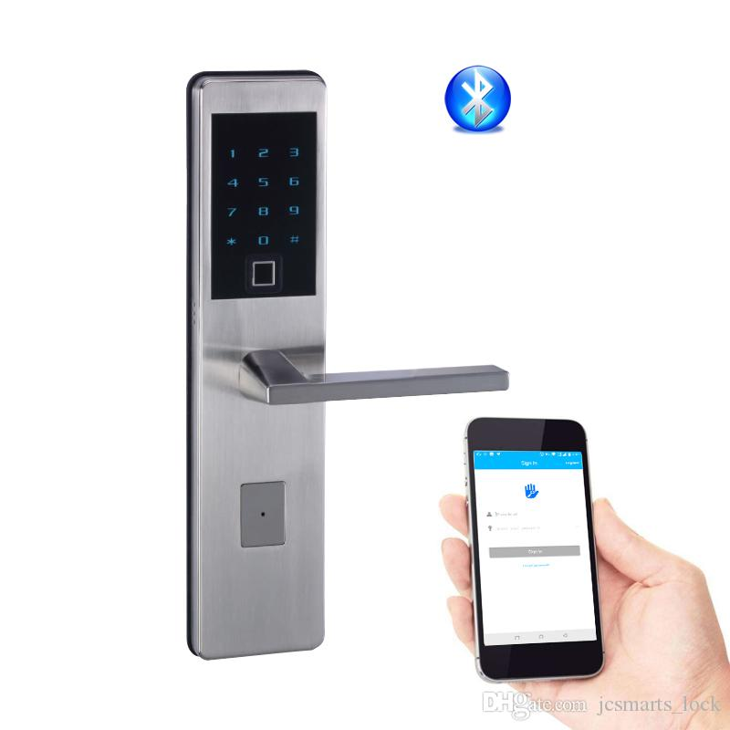 Smart Key Lock Fingerprint Keyless Entry Door Lock Support Bluetooth