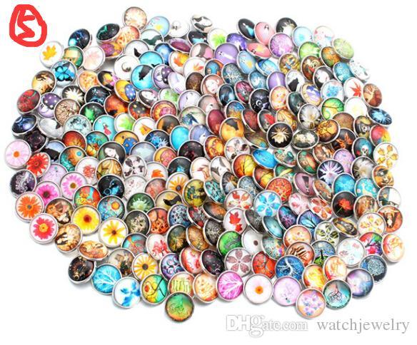 Noosa 100 pz / lotto misto 18mm in lega di resina in lega di modo scatta bottoni adatti gioielli ginger braccialetti scatto braccialetti a scatto Braccialetti di fascino Braccialetti