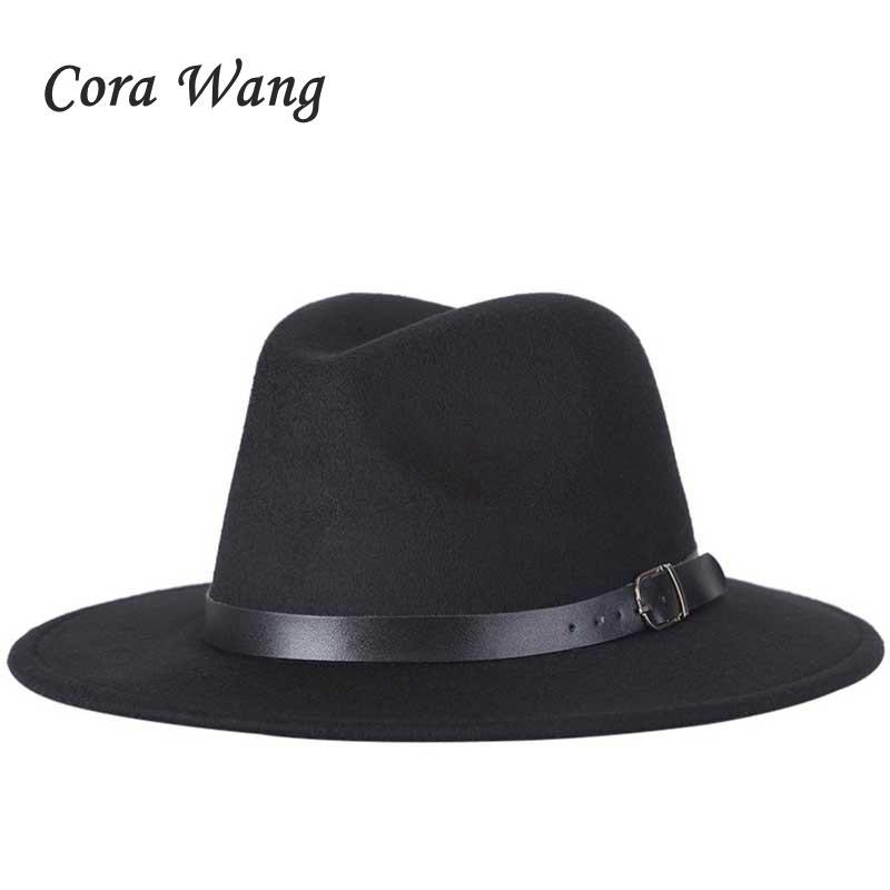 2018 New Fashion Men Fedoras Women s Fashion Jazz Hat Summer Spring Black  Woolen Blend Cap Outdoor Casual Hat Tea Party Hats Rain Hat From Rainbowwo 3762cce9a79e