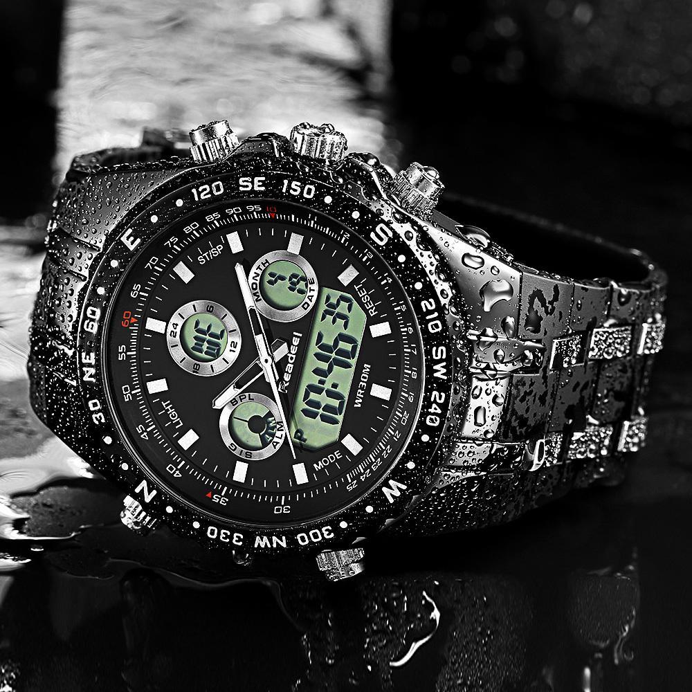 9ed7dd73b049 Compre Readeel Mens Relojes De Primeras Marcas De Lujo A Prueba De Agua Led  Digital Reloj De Cuarzo Hombre Sport Reloj De Pulsera Hombres A Prueba De  Agua ...