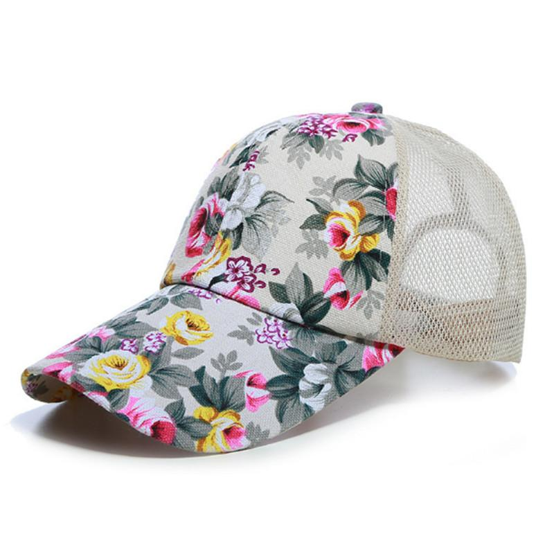 75ff3ff9c7b Sunscreen Rose Floral Print Baseball Cap For Women Men Sport Mesh Caps  Breathable Casual Golf Hats Snapback Hat Hats For Sale Neweracap From  Turban