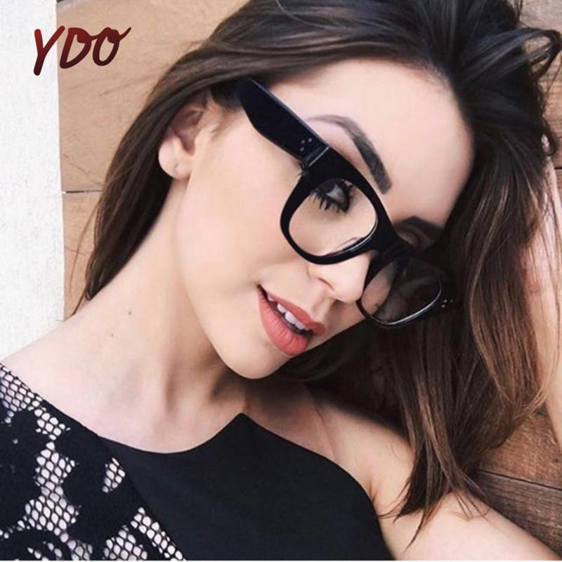 dd2c3650fa 2019 YDO New Transparent Glasses Frame Women 2018 Fashion Clear Lens Degree  Eyeglasses Optical Eye Computer Reading Woman Spectacles From Zeipt