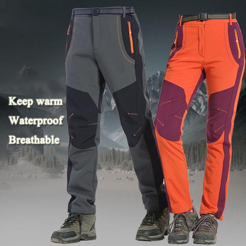 2019 Winter Outdoor Hiking Ski Pants Fishing Waterproof Camping Trekking Fleece  Skiing Pants Climbing Softshell Trouserl Men Women From Comen 1d526a94f