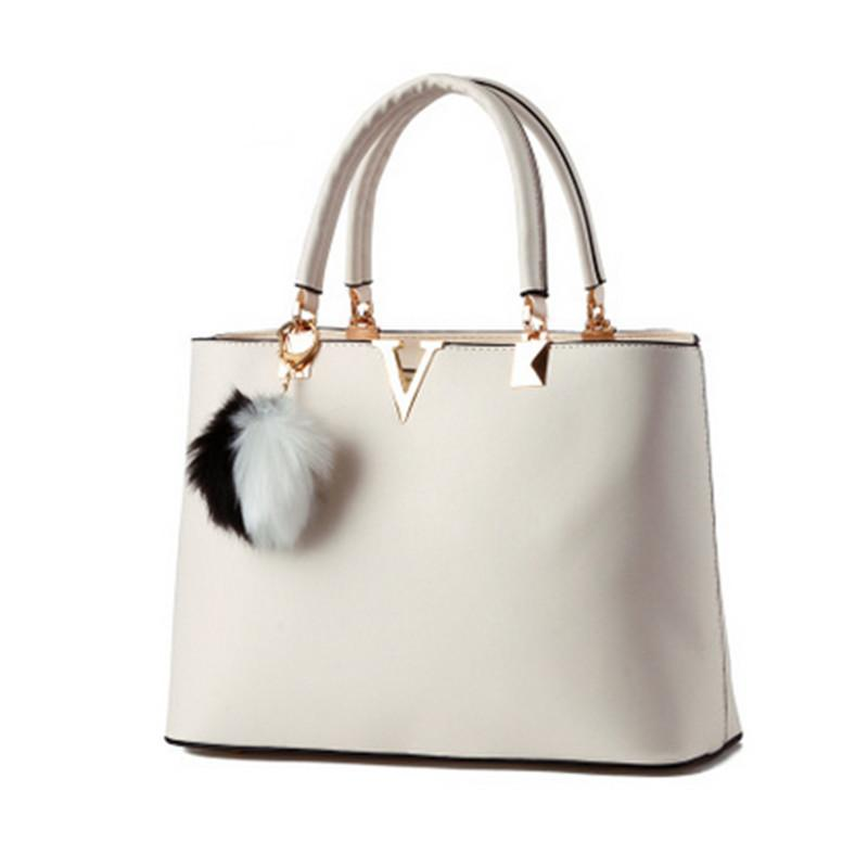 Real PU Ladies Handbag 2017 Famous Designer Brand Handbag Letter V Luxury  Cross Body Bags Cheap Women Bags Canta Bolsos Discount Designer Handbags  Designer ... fa45962fb5