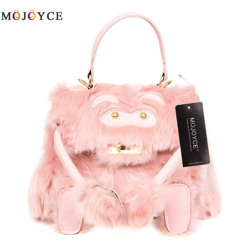 8046669f778 Fashion Faux Fur Bags Handbags Women Famous Brand Designer Luxury Totes  Crossbody Bags For Women Tassel Winter New Duffle Bags Clutch Bags From  Paradise12