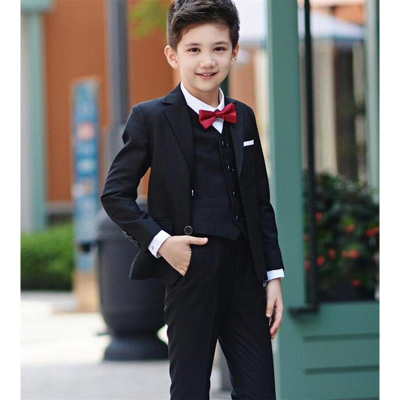 2018 Black Boys Suits For Wedding Prom Boy Suits Formal Costumes For Boys Kids Tuxedo Childrenu0027s Blazer Clothes 3 Jacket+Pants+Vest From Firstcloth ...  sc 1 st  DHgate.com & 2018 Black Boys Suits For Wedding Prom Boy Suits Formal Costumes For ...