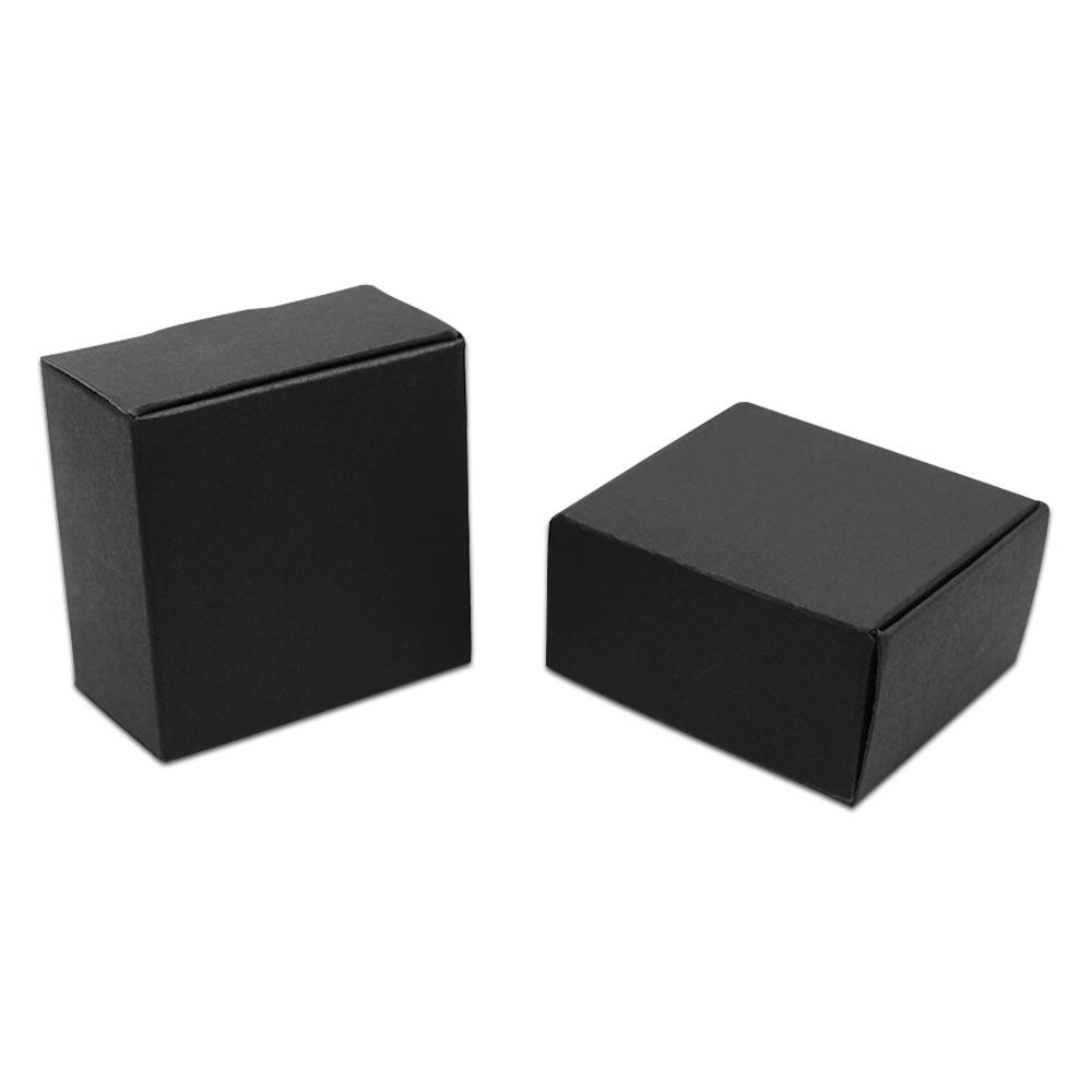 1db3736e3 7x7x3cm Reusable Black Paper Board Packaging Boxes Handmade Soaps Crafts Kraft  Paper Storage Boxes For Halloween Christmas Heavy Christmas Wrapping Paper  ...