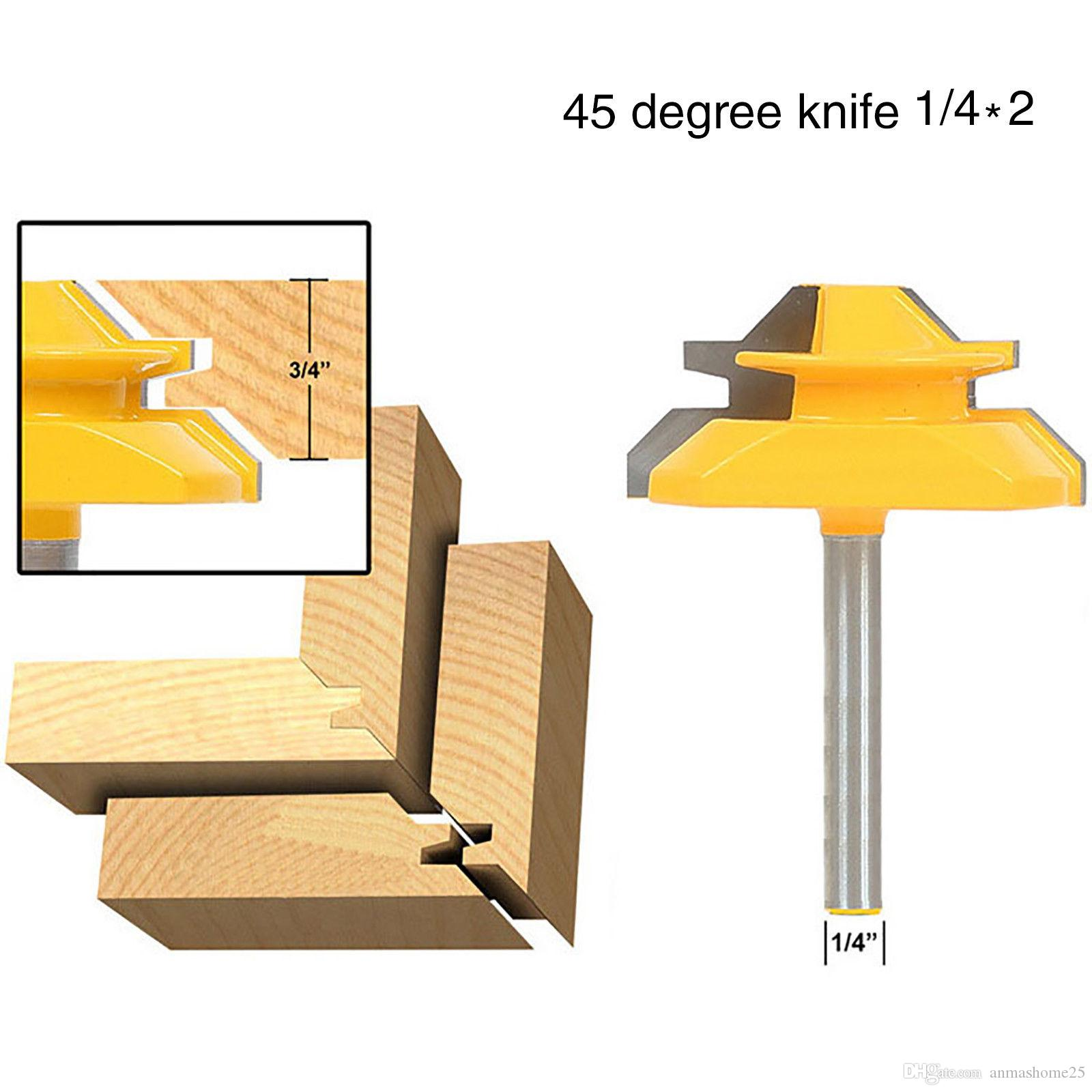 2019 45 Deg Up To 3 4 Stock Lock Miter Router Bit 1 4 Shank Fit For