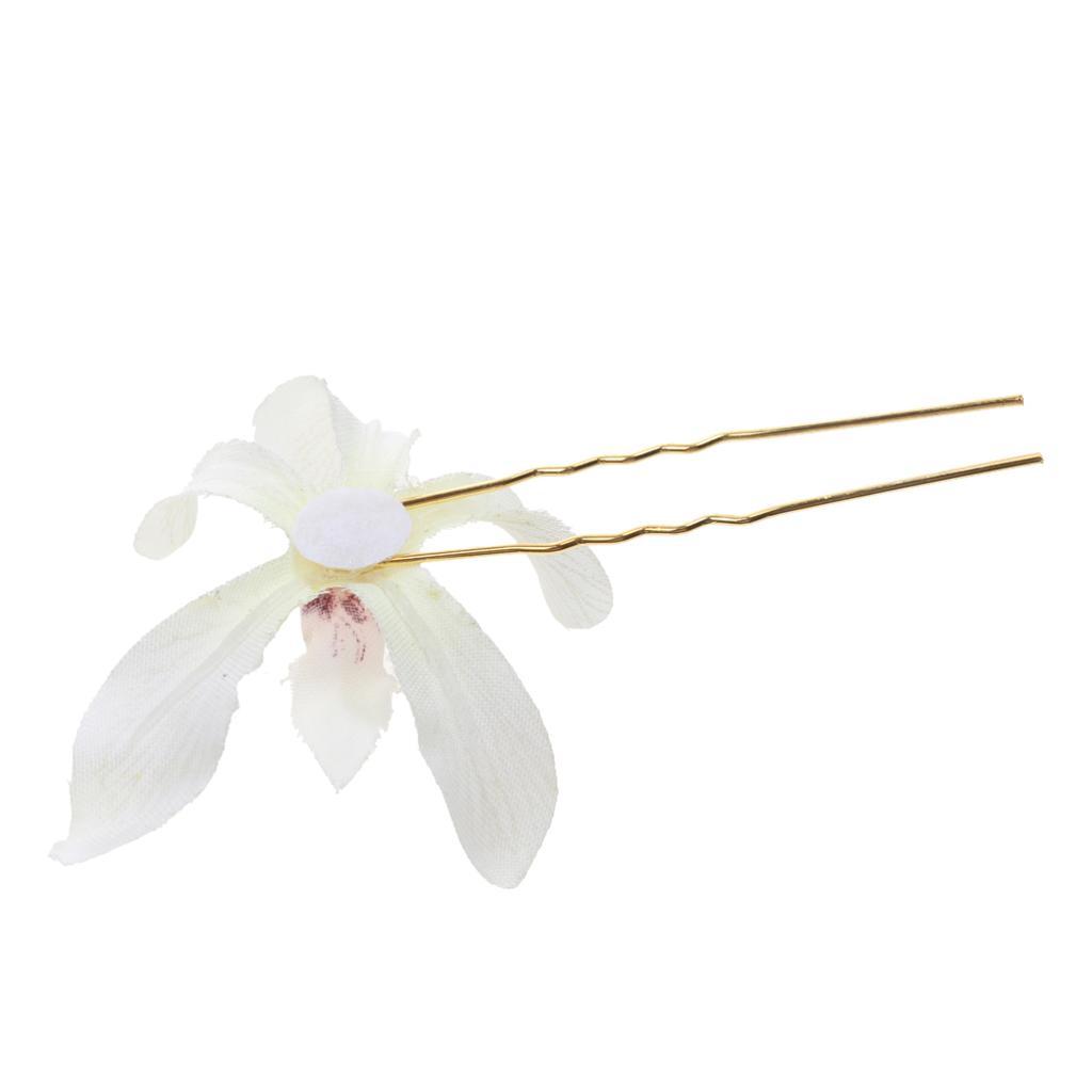 Fabric Flower Hairpin Wreath Wedding Bridal Hair Stick Hair Pin DIY Hair Jewelry Accessories