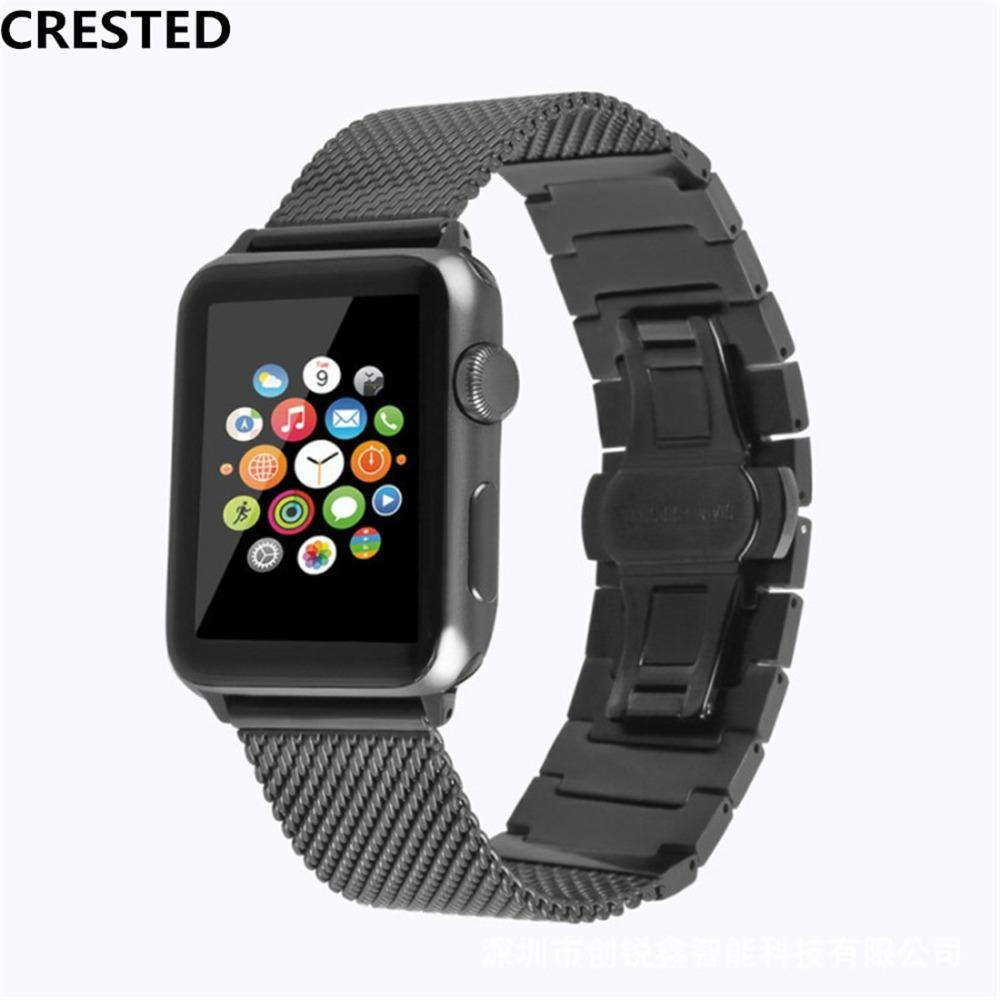 55760daf0 CRESTED Stainless Steel Strap For Aplle Apple Watch Band 42mm 38mm Correa  Iwatch Series 3 2 1 Wrist Link Bracelet Watchband Belt Watch Bands Online  Watches ...
