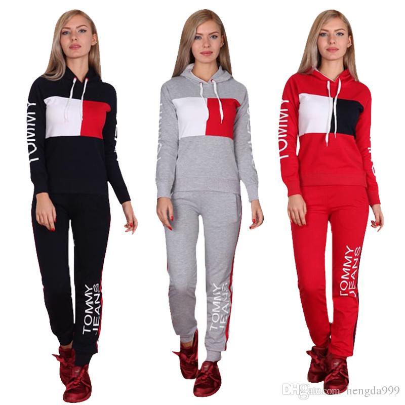 Compre Moda Deportiva Para Mujer Chándal Con Capucha + Pantalones 63c7359dc4ddb