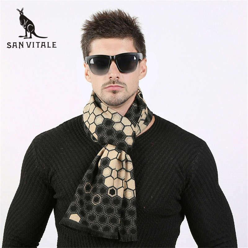 Dedicated Scarves Men Winter Warm Scarf Cashmere Cape Blue Plaid Dropshipping Wholesalers Suppliers Twill For Dress Scarfs High Quality Apparel Accessories